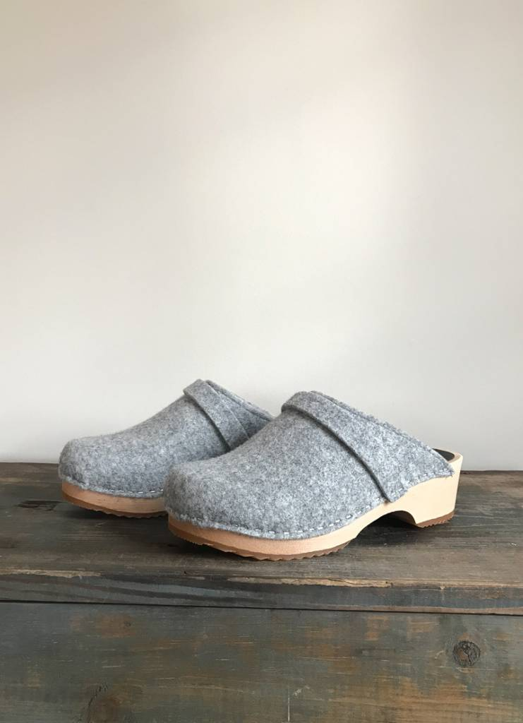 The Birch Store Grey Wool Felt Clog