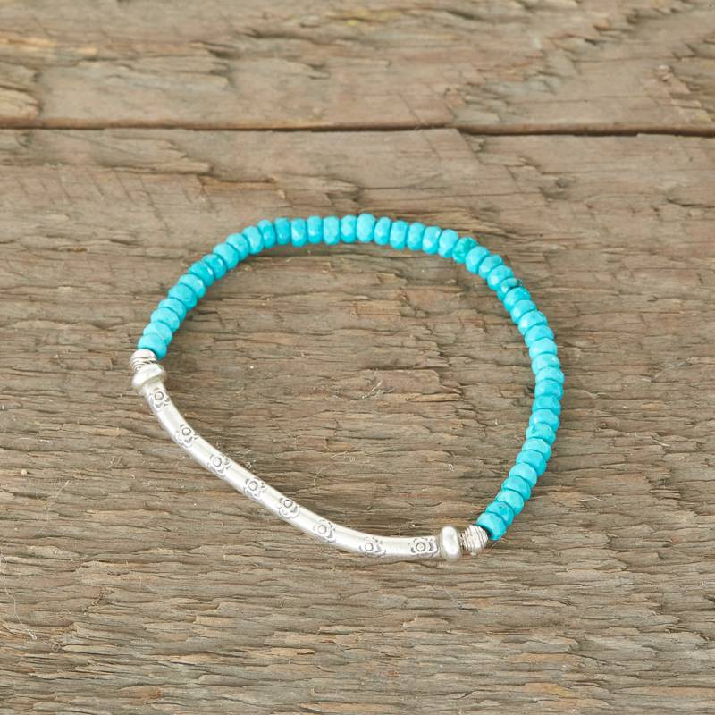 The Birch Store Turquoise & Hill Tribe Silver Bracelet