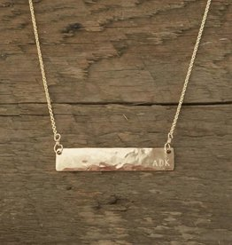 The Birch Store ADK Gold Bar Necklace