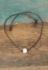 The Birch Store Single White Pearl Necklace