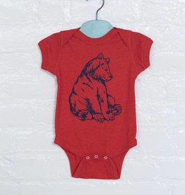 The Birch Store Red Bear Onesie