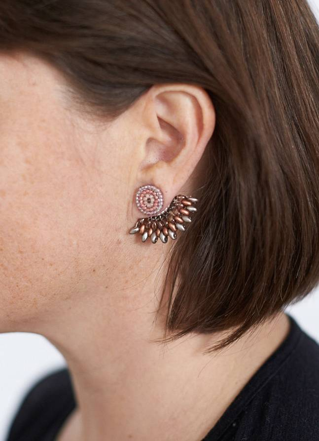 The Birch Store Beaded Earring with Skirt