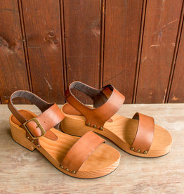 The Birch Store Double Strap Leather Clog
