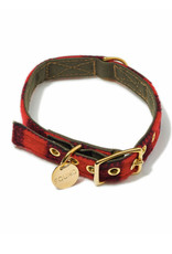 The Birch Store Red Buffalo Wool & Canvas Collar