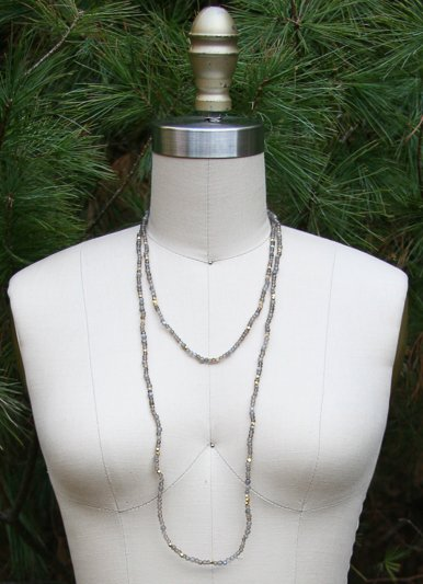 The Birch Store Smokey Quartz Beaded Necklace