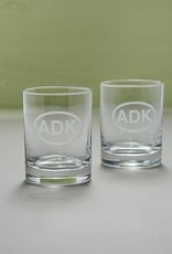 The Birch Store ADK Rocks Drinking Glasses, Set of 2