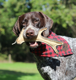 The Birch Store Leather & Wool Antler Dog Toy
