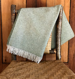 The Birch Store Spotted Green Lambswool Throw
