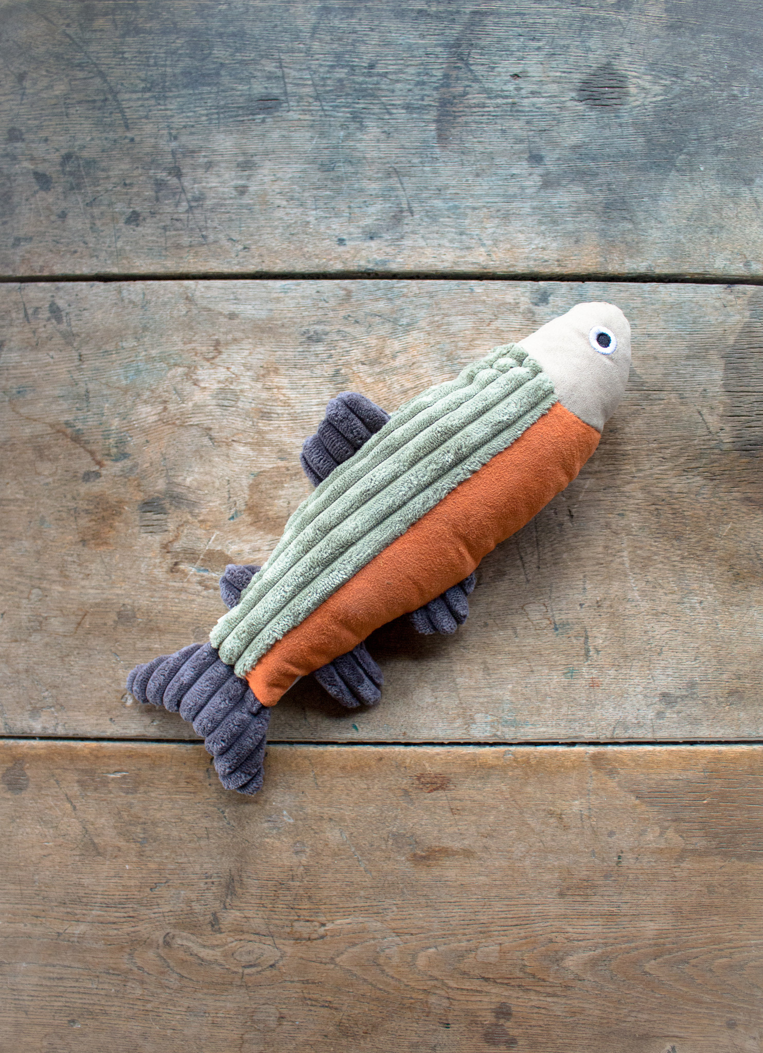 The Birch Store Plush Fish Squeaky Dog Toy
