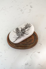 The Birch Store Pine Branch Ceramic Butter Dish
