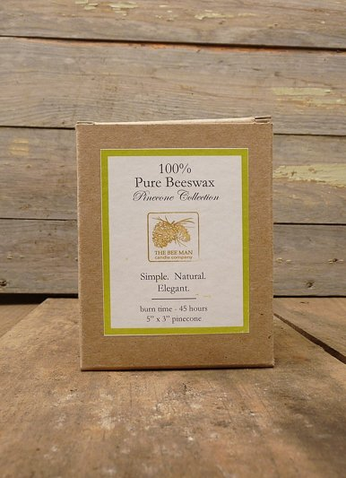 The Birch Store Pinecone Beeswax Candles