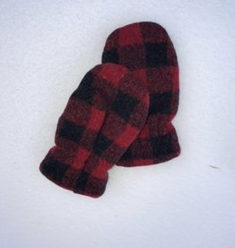 Polar Mitts Kid's Plaid Mittens