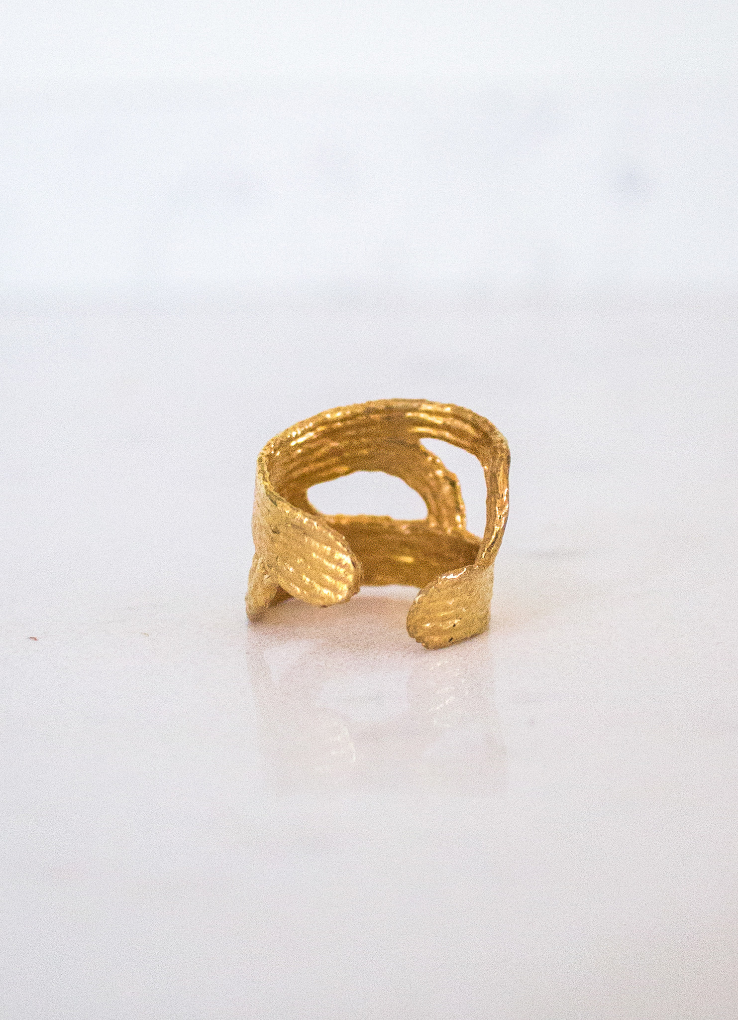 The Birch Store Adjustable Gold Wave Ring