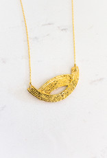 The Birch Store Gold Wave Necklace