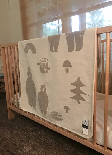 The Birch Store Cotton Polar Bear Baby Blanket