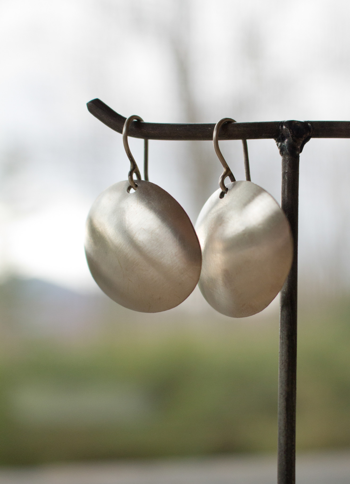 The Birch Store Hammered Dome Earrings