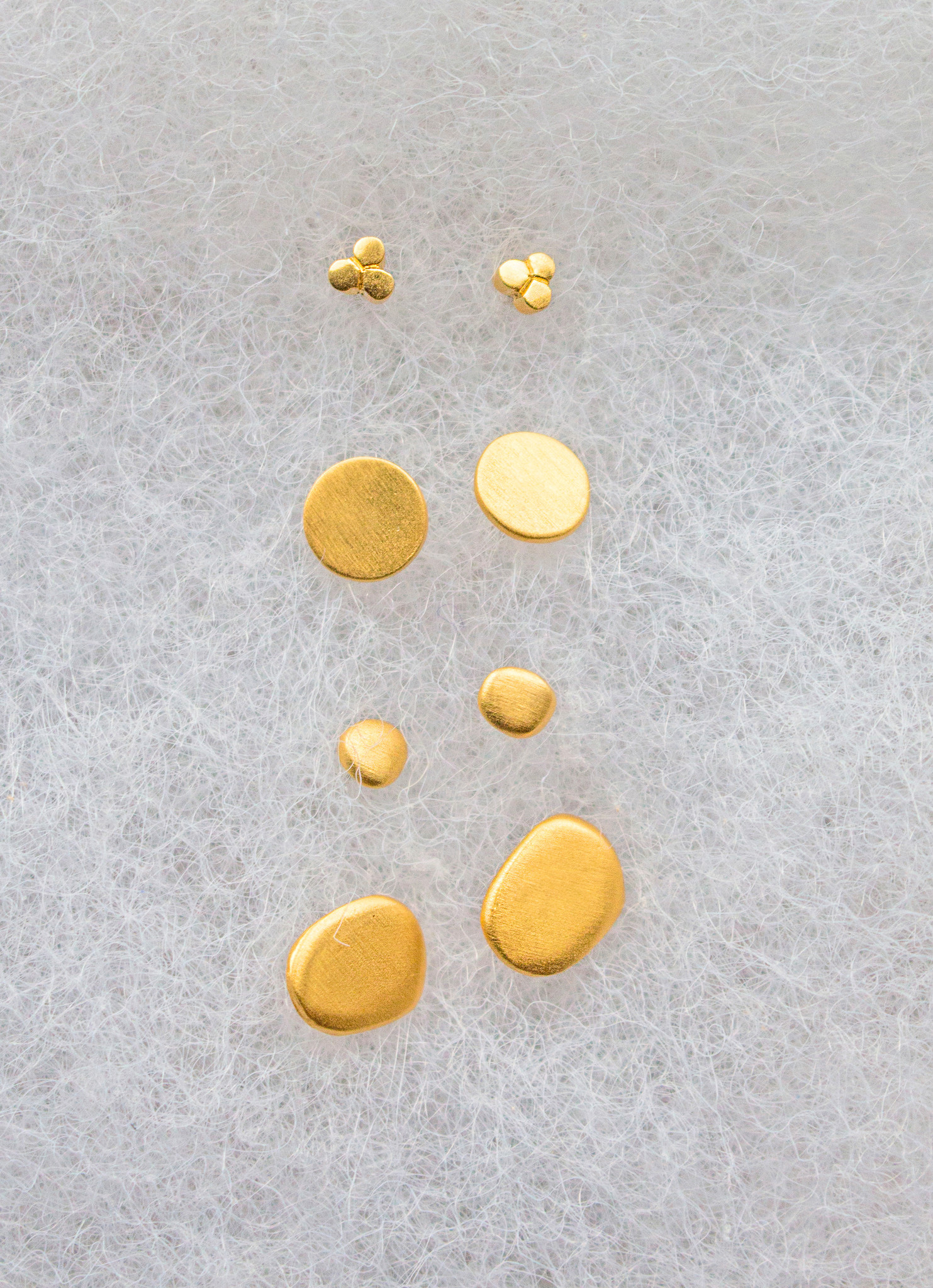 The Birch Store Triple Disc Mini Stud Earring