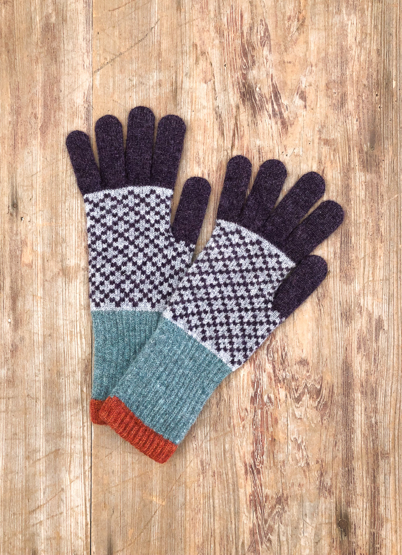 The Birch Store Patterned Lambswool Gloves