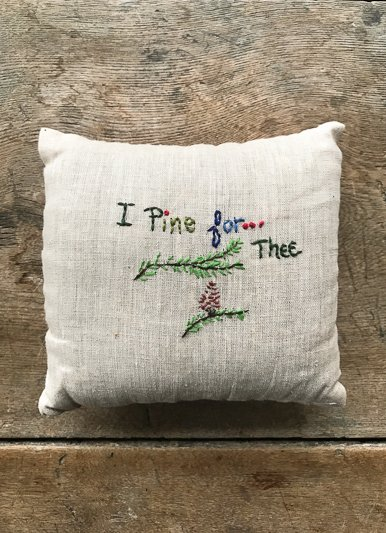 The Birch Store Locally Made I Pine For Thee Balsam Filled Pillows
