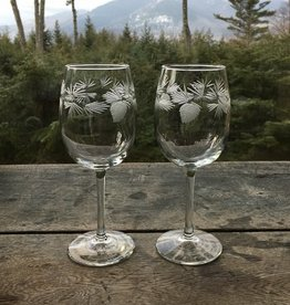 The Birch Store Icy Pine Small Wine Set of 2