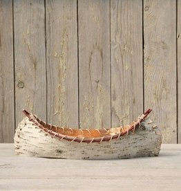 The Birch Store Small Birch Bark Decorative Canoe