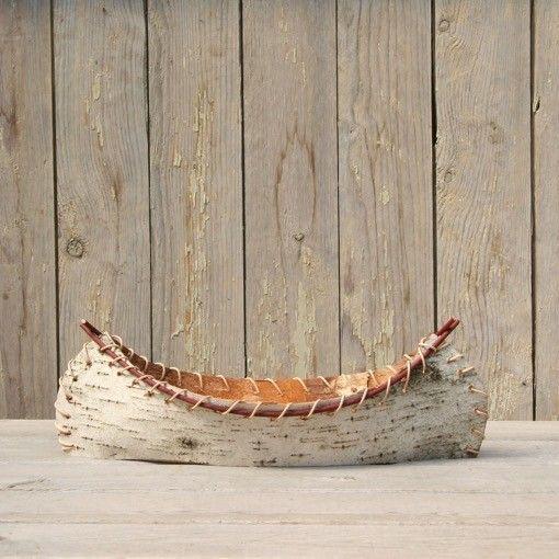 The Birch Store Small Birch Bark Decorative Canoe