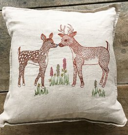 The Birch Store Deer Love Pillow