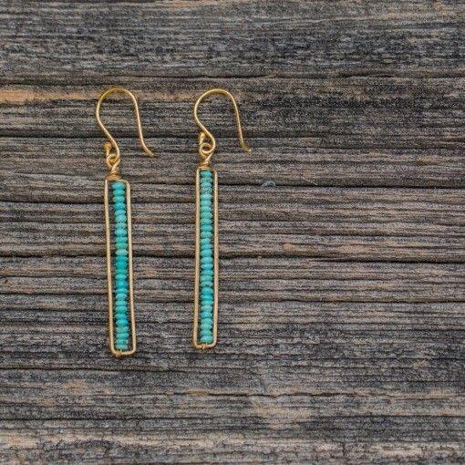 Roost Turquoise Peapod Earrings