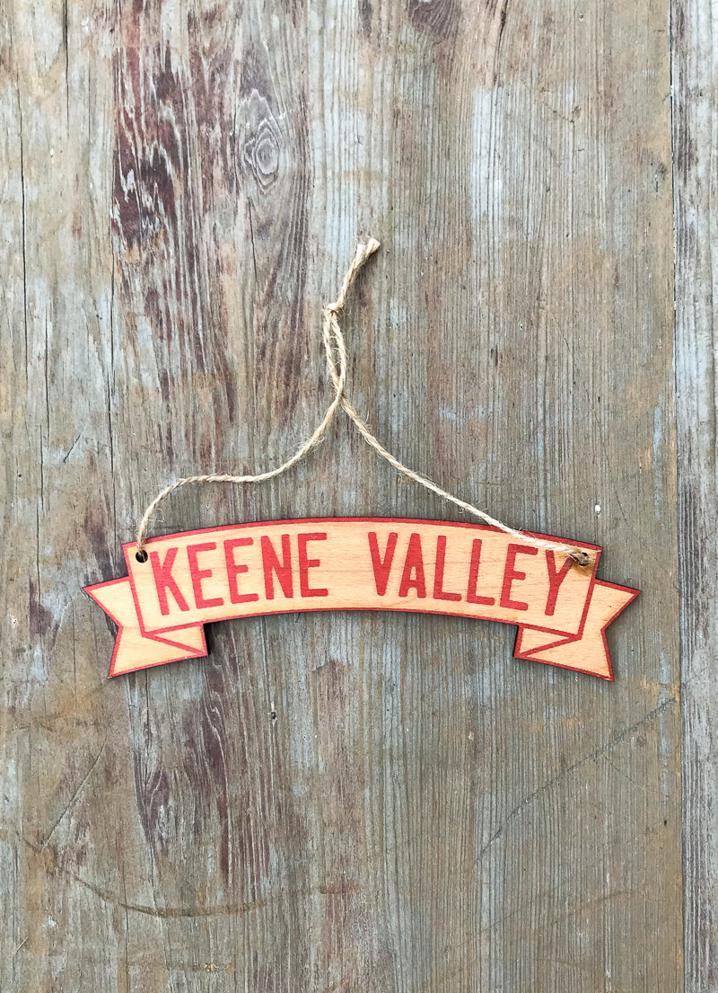 The Birch Store Keene Valley Wooden Banner Ornament