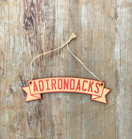 The Birch Store Adirondacks Wooden Banner Ornament