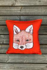 The Birch Store Fox Applique Pillow