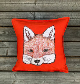 The Birch Store Fox Applique Pillow