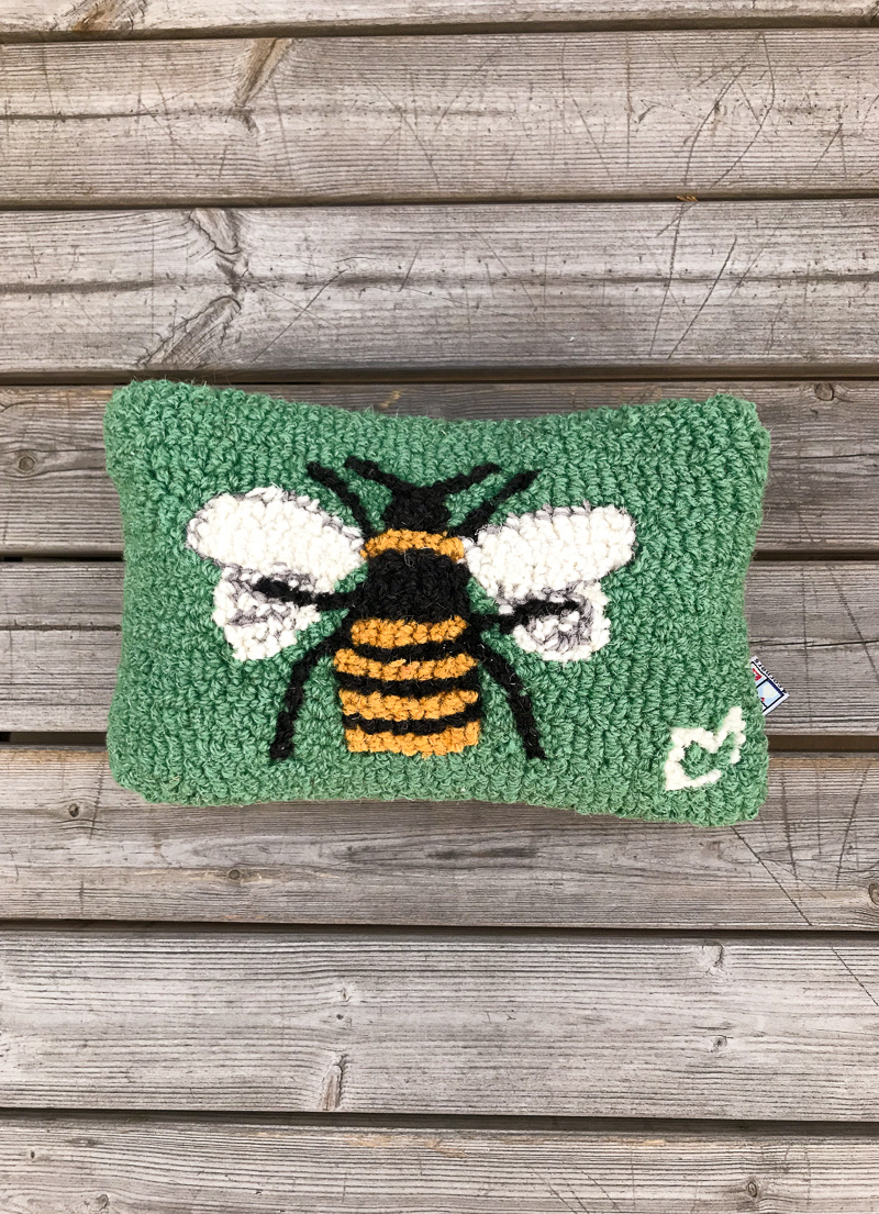 The Birch Store Honey Bee Hooked Pillow