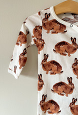 The Birch Store Bunny Organic Cotton Footed Romper