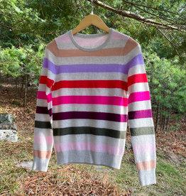 The Birch Store Cashmere Multi Stripe Crew Sweater