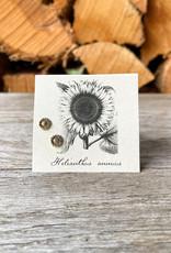 The Birch Store Gold Sunflower Post Earring