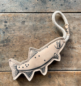 The Birch Store Natural Leather & Wool Trout Tug Toy