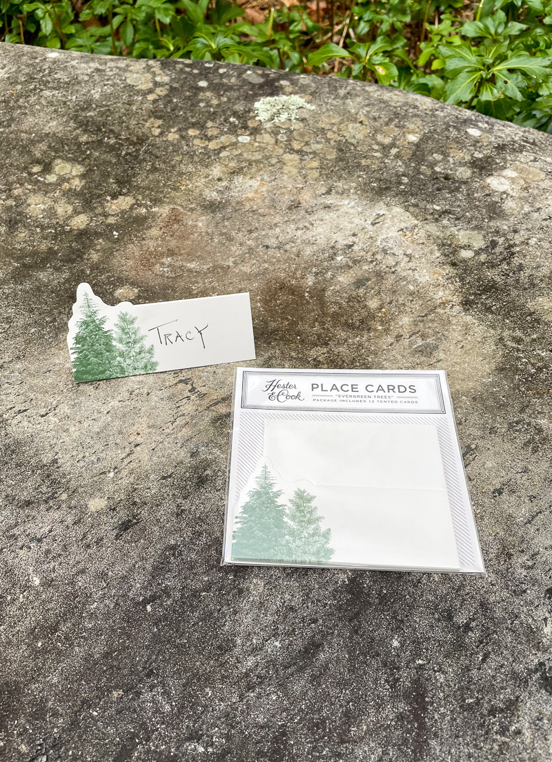 Hester & Cook Evergreen Place Cards