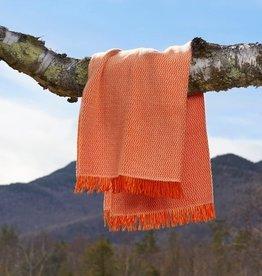 The Birch Store Orange Zig Zag Lambswool Throw