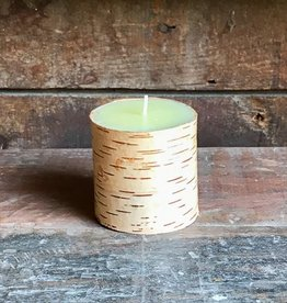 The Birch Store Birch Bark Pillar Candle 3x3