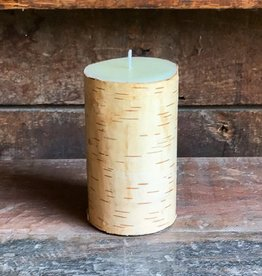 The Birch Store Birch Bark Pillar Candle 3x5