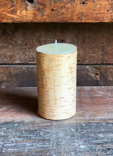 The Birch Store Birch Bark Pillar Candle 3x5