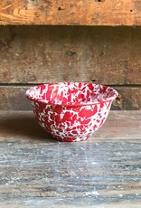 The Birch Store Red Marble Enamelware Bowl