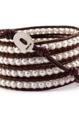 The Birch Store White Pearl Wrap Bracelet