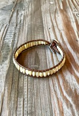 The Birch Store Leather & Stone Bracelet