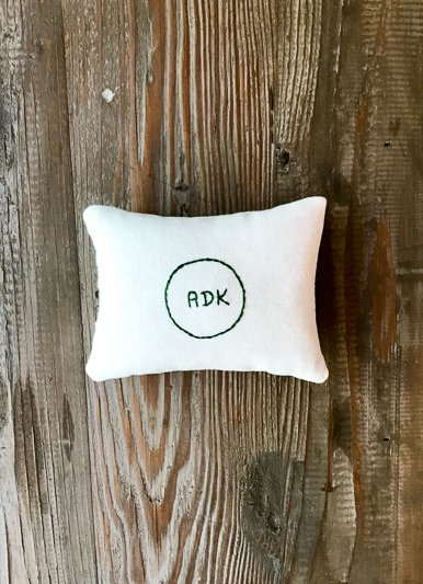 The Birch Store ADK Embroidered Balsam Filled Pillow