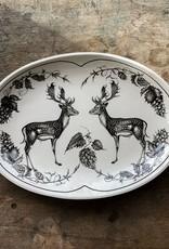 The Birch Store Fallow Buck Oval Small Platter