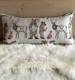 The Birch Store Embroidered Lumbar Pillow