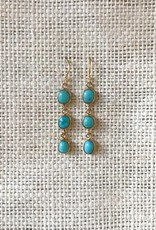 The Birch Store Turquoise Cabochon Dangle Earrings