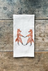 The Birch Store Fox Love Linen Tea Towel